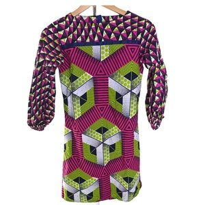 Fun & Funky Timotiwa Neon Patterned Girls Dress